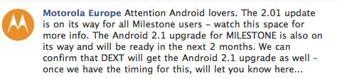 Android milestone Motorola