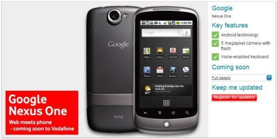 Android Nexus One Vodafone