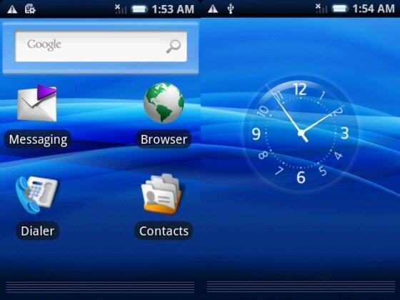 Android Benutzeroberfläche Xperia