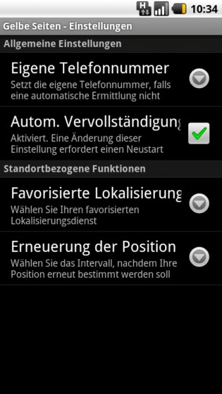 Android Telefonbuch