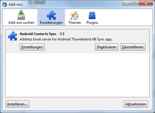 Android Kontakte