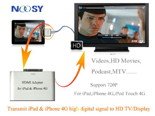 720p adapter hdmi iOS iPad iPod