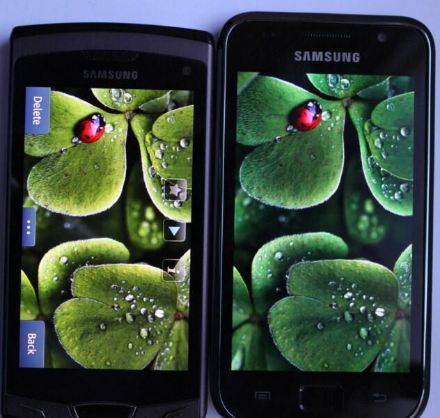 AMOLED Android Bada Display Samsung slcd