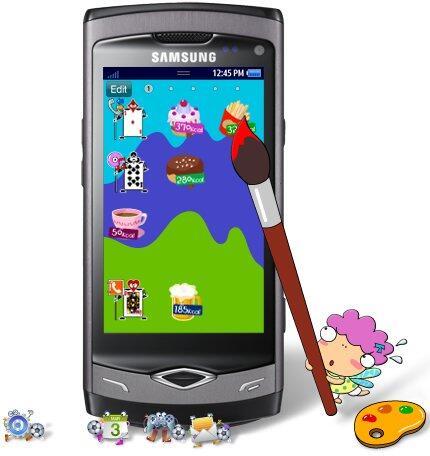 Bada modding Samsung style Theme