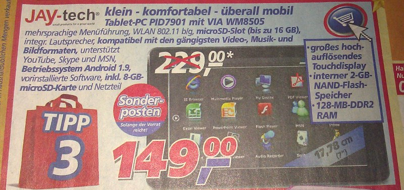 Android rossmann Tablets