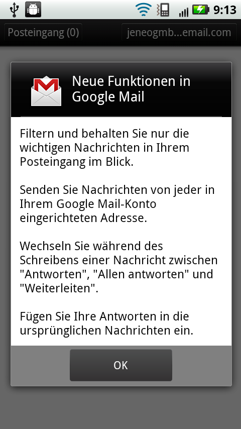Android apk app E-Mail Google mail