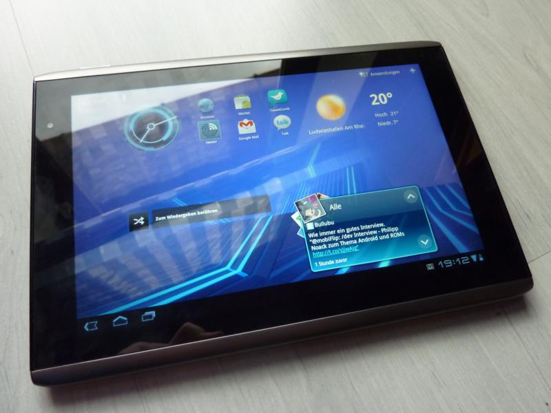 a500 acer iconia tab Android bug erfahrung fazit test