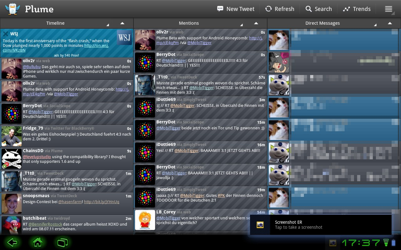 Android app beta plume twitter Update