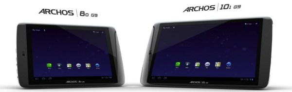Android Archos Honeycomb tablet