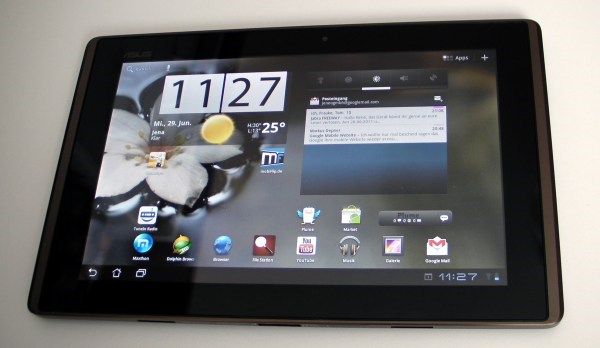 Android Asus Honeycomb tablet test Testbericht transformer