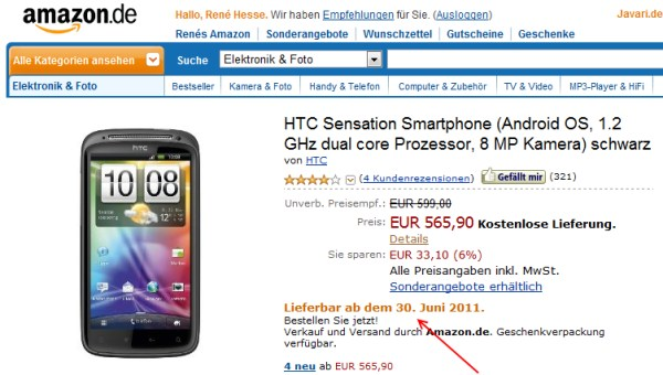 amazon Android HTC Sensation
