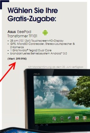 Android Asus Eee Pad Honeycomb transformer