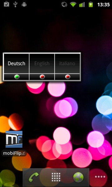 Android app locale sprache System