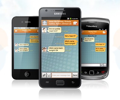 Android app Apple Bada IM iOS iphone Messenger Samsung