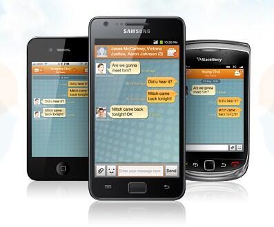 Android chaton Messenger Samsung