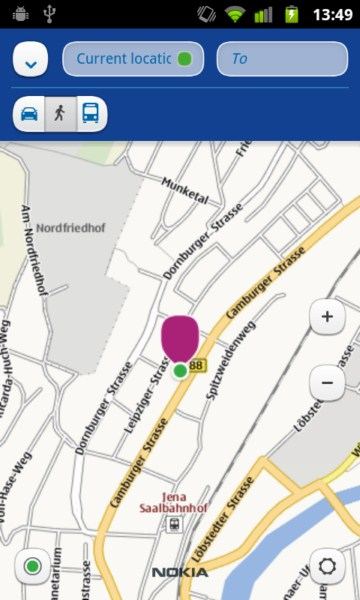 Android iOS iphone karten Maps Nokia