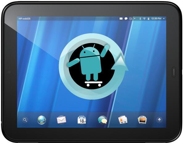 Android CM9 CustomRom Cyanogenmod HP Ice Cream Sandwich modding touchpad webOS