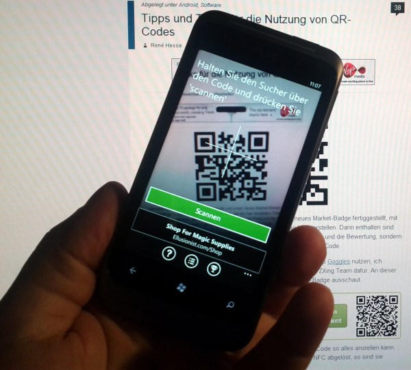 barcode code qr scanner System tipp Tool Windows Phone