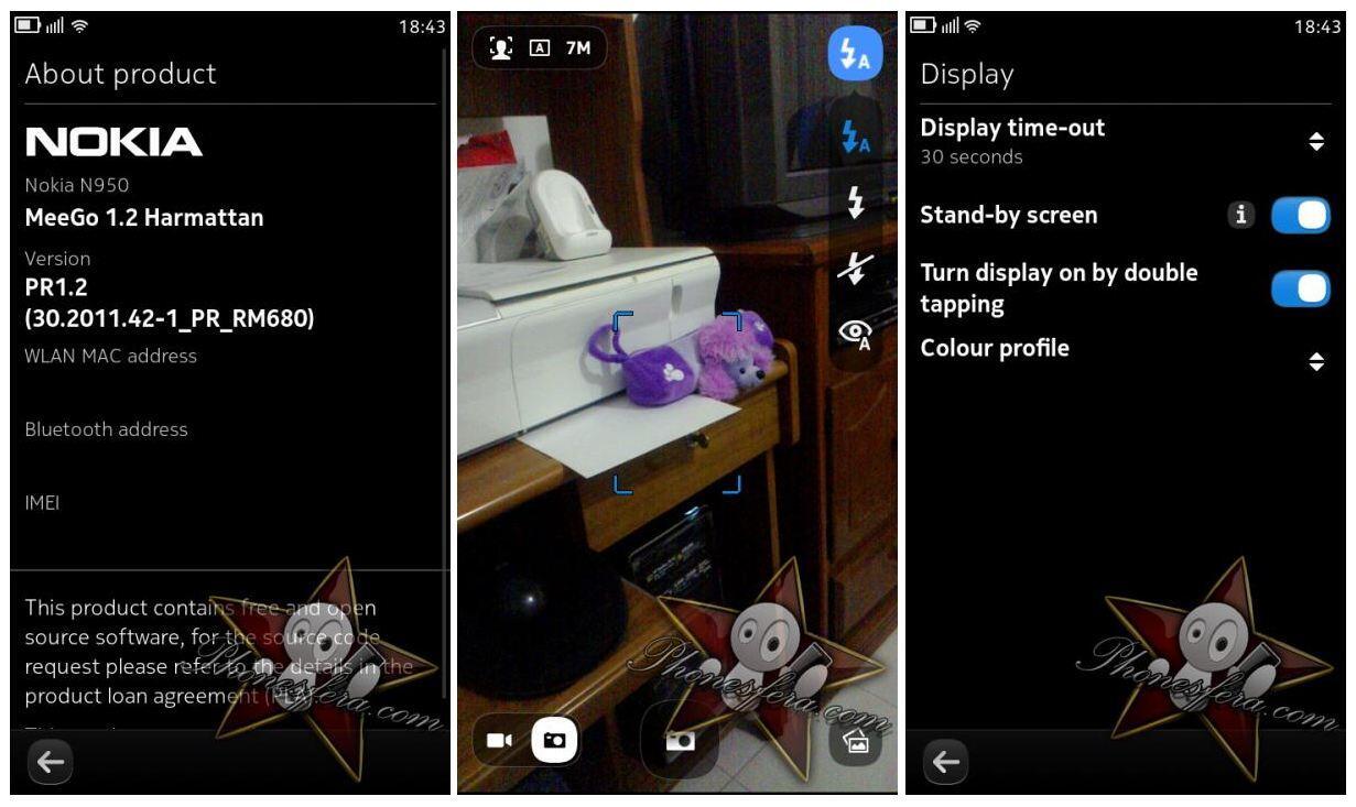 details MeeGo n950 nokia n9 Update