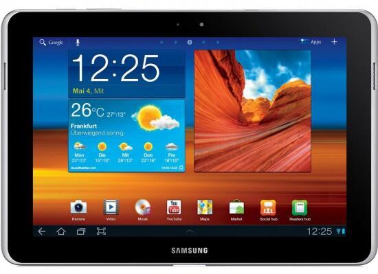 Android galaxy tab Ice Cream Sandwich mwc2012 Samsung tablet
