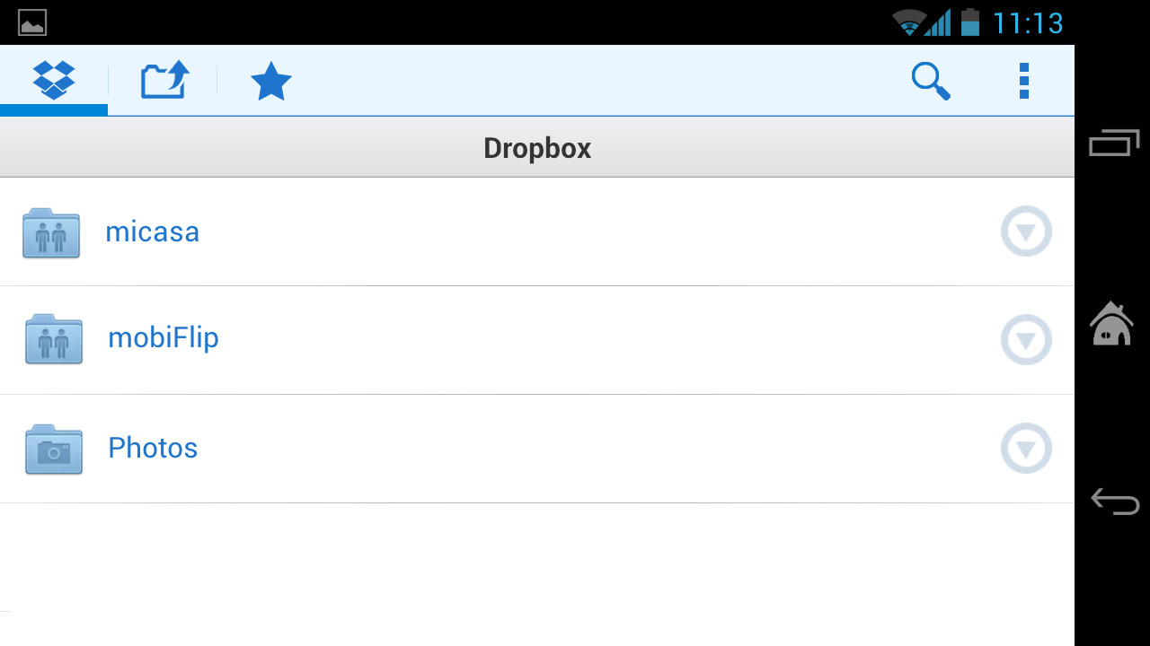 Android beta Cloud-Speicher dropbox Update