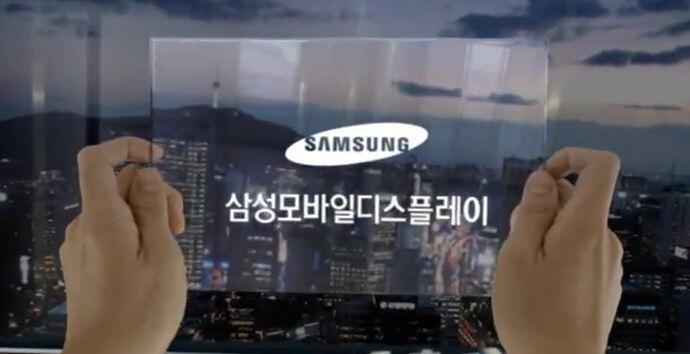 Display flexibel Konzept prototyp Samsung Video
