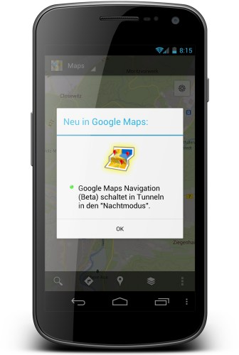 Android Google Maps market Update