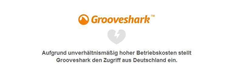deutschland eingestellt Grooveshark nutzen
