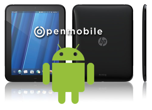 Android ces2012 HP touchpad webOS