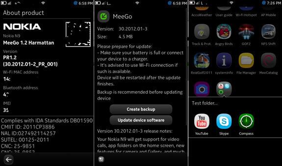 harmattan MeeGo n9 Nokia ordner Update