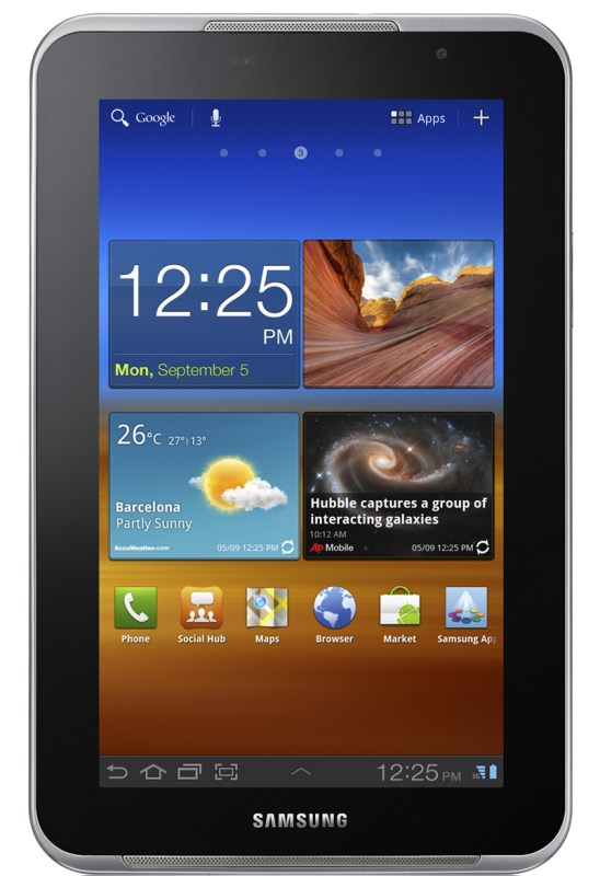Android Galaxy Tab 7.0 Plus Samsung tablet