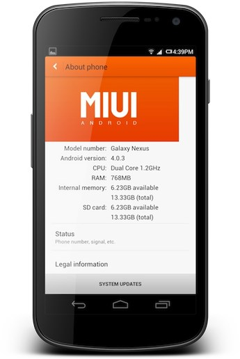 Android CustomRom Firmware miui modding root samsung galaxy nexus