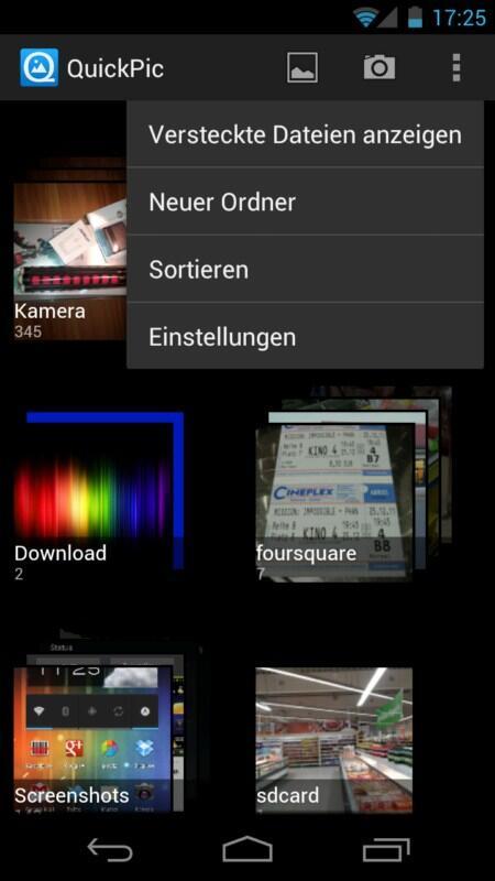 Android app bilder Galerie ICS System tipp Update