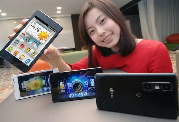 3D 4X Android LG mwc2012 optimus quad core Video