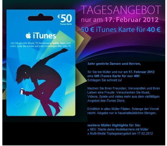 aktion Apple Apps itunes Müller