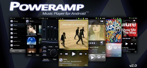 Android ICS music Musik poweramp Update