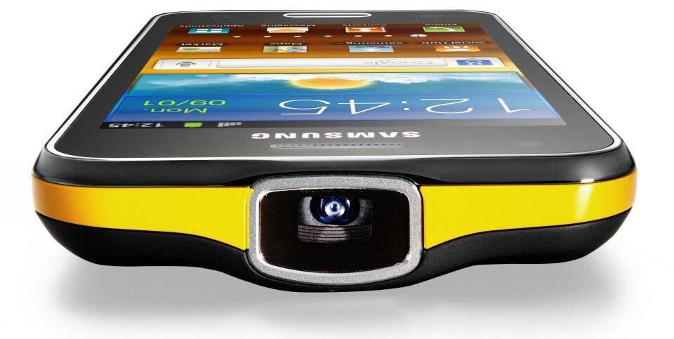 Android beamer Galaxy Beam mwc2012 Samsung