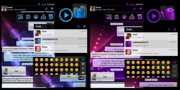 Android farbe Messenger style Theme whatsapp