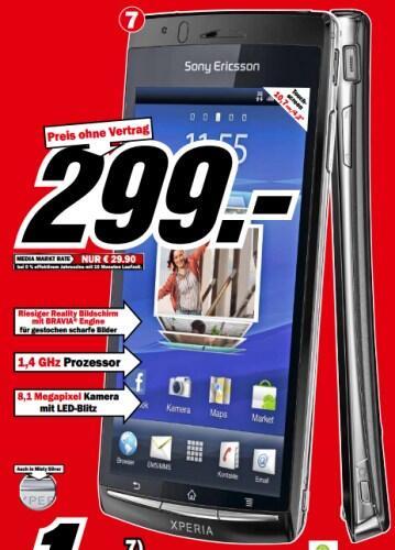 Android Arc S deal ericsson media markt Sony Sony Ericsson