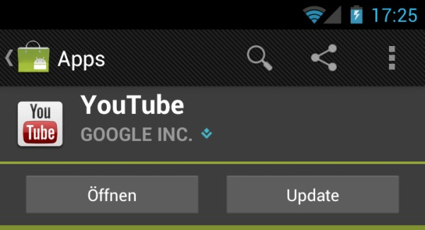Android app Google market Update Video YouTube