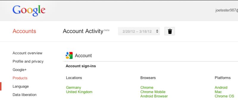 Android dienste Google service web