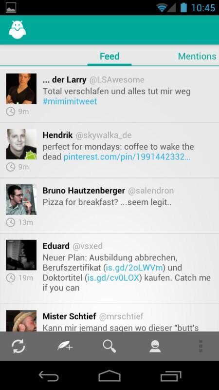 alpha Android app Boid carbon ICS market nexus tipp twitter