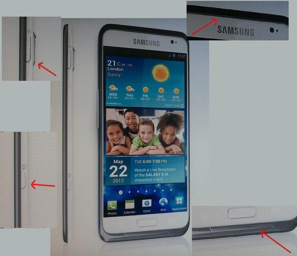 Android foto galaxy s3 Leak pr Samsung
