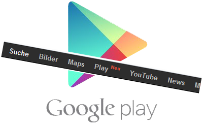 Android Apps bar Google google play shop Store suche