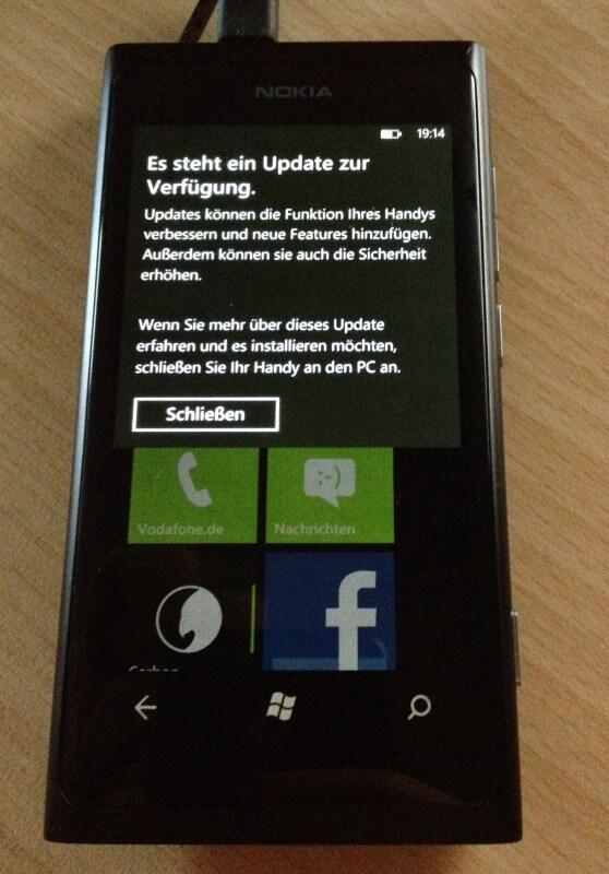 akku bass Lumia 800 Nokia Update Windows Phone