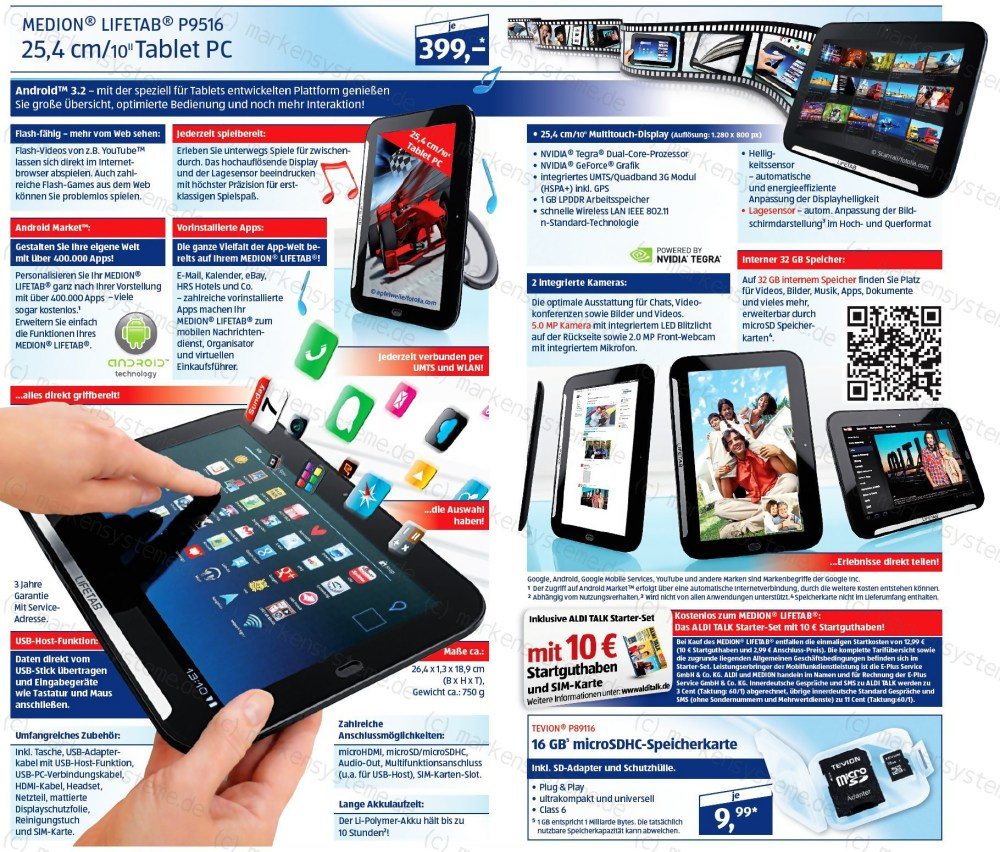 aldi Android lifetab medion tablet