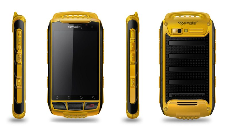 Android Outdoor Pearl Simvalley Smartphone SPT-800