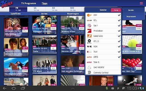 Android app spielfilm tipp TV
