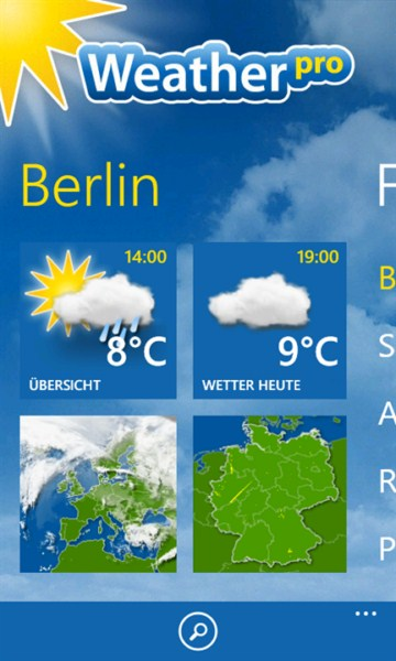 app Update Wetter Windows Phone wp