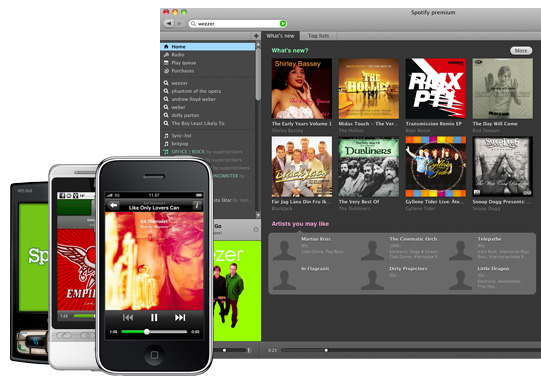 Android Apple iOS music Musik spotify webOS Windows Phone